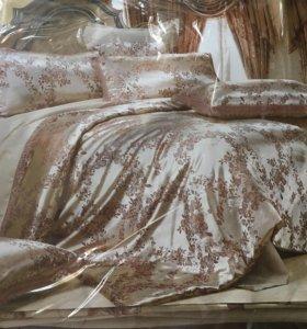 Комплект атласного постельного белья