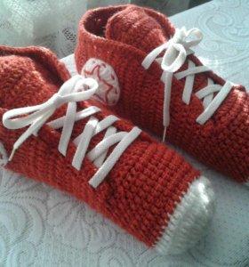 Вязаные мужские носки-кеды