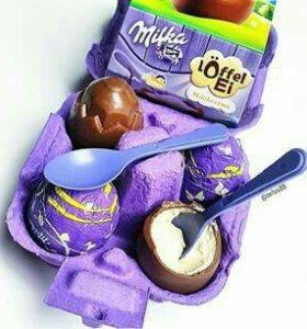 Milka шоколадные яйца