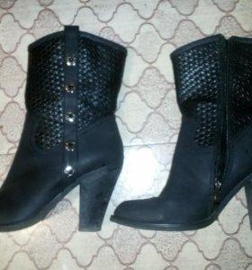 Ботинки темно-серые, размер 40