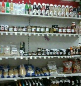 Холодильник и стилаж для магазина