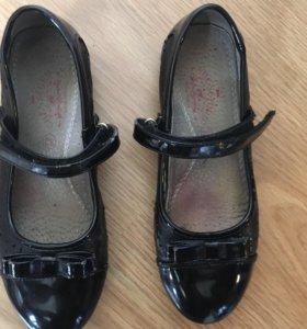 Туфли кожа для сменки