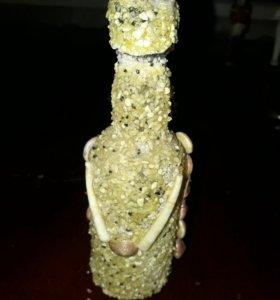 Декоративная бутылка из Индии