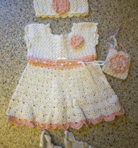 Платье комплект вязаный
