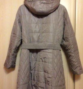 Утеплённое пальто р54-56, осень-зима