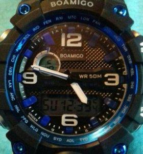 Спортивные часы с подсветкой глубина 50м +