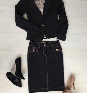 Пиджак чёрный, xs/s