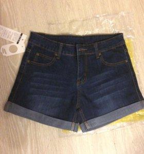 Новые джинсовые шорты 27-28р