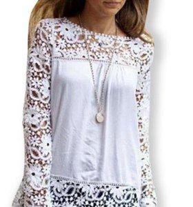 Белоснежная кружевная блуза
