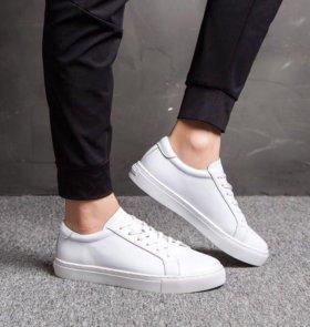 Кеды кроссовки из натуральной кожи