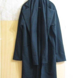 Пальто мужское с шарфом Black Edition