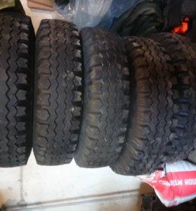 колеса на УАЗ с дисками накаченные
