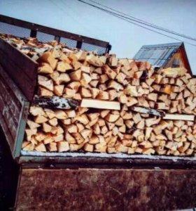 Дрова колотые берёза, дуб, осина доставка от 1.5м3