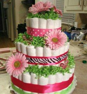 Памперс торт