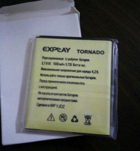 Аккумулятор для Explay Tornado новый