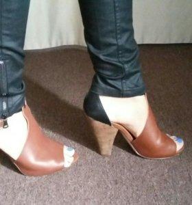Кожаные туфли 40