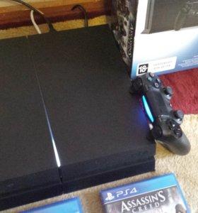 Игровая приставка Sony playstation 4 1TB + 2 игры
