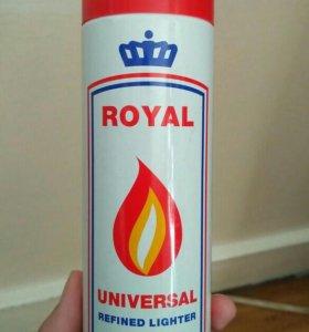 Газ в баллончике для заправки зажигалок ROYAL