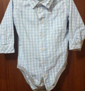 Рубаха-боди для мальчика от 0-12.