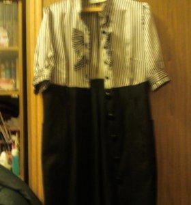 комбинированное платье