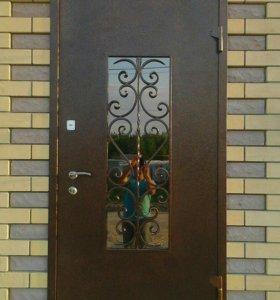 """Дверь кованная со стеклопакетом """"Империал"""""""