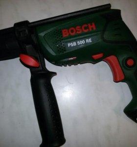 Дрель ударная bosch psb 500 re