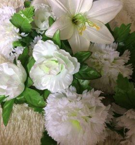 Цветы на свадебные кольца