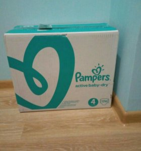 Pampers Active Baby-Dry 4 (58х3=174)