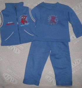 Утепленный костюм для мальчика на 9-18 месяцев