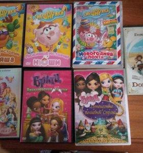 Диски с мультфильмами для DVD