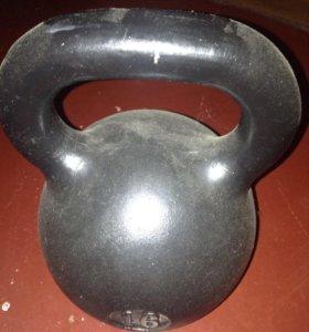 Гиря 16 кг +