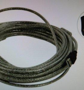 Кабель USB удлинительный активный А-VCOM 10 метров