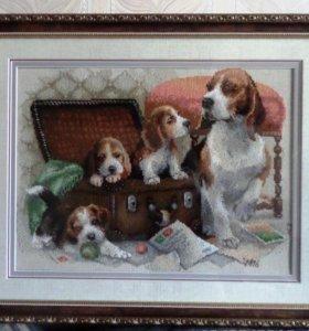 """Карина """"Собачье семейство"""" вышивка крестом"""
