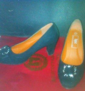 туфли велюровые