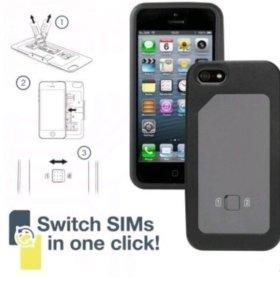 Чехол для iPhone на 2 sim