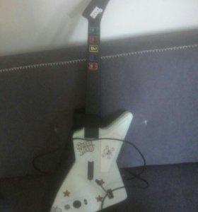 Гитара Guitar Hero ps, 2 диска