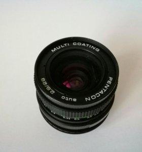 Pentacon auto 2,8/29(M42) + переходник Canon