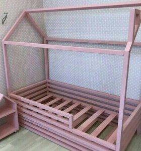 Эко кровать домик