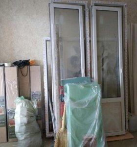 Окно и балконная дверь.