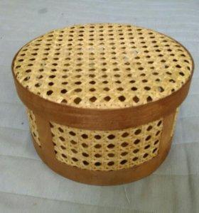 Шкатулка-короб плетёная