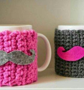 Чашка с вязанным чехлом