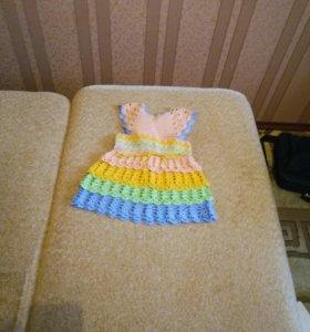 Вязаное платье (ручная работа)