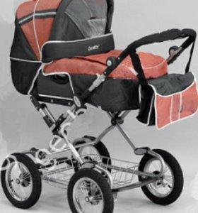 Коляска Geoby зима-лето цвет унисекс+матрасик в коляску синий цвет+кенгуру переноска для малышей