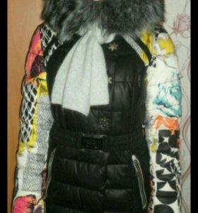 Куртка+шапочка и шарф