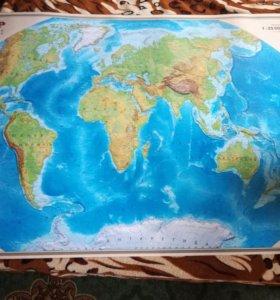 Физическая карта ( Атлас ).
