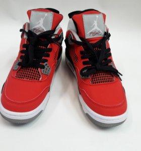 Кроссовки Air Jordan 4 Red Nubuk