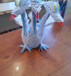 Дракон из модульного оригами