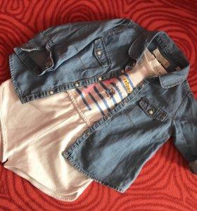 Комбинезон и рубашка Zara kids