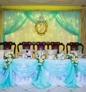 Оформление свадеб, декор.