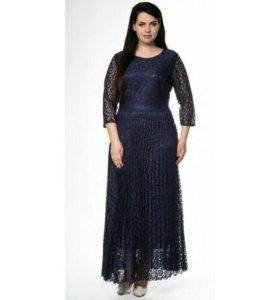 Синее вечерние платья р. 58,62